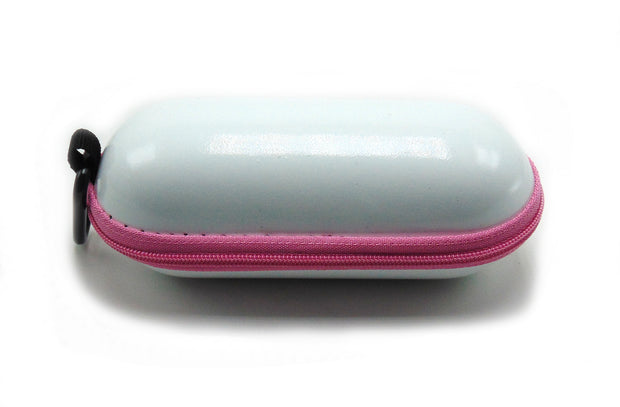 Small Hard Shell White Padded Pipe Case