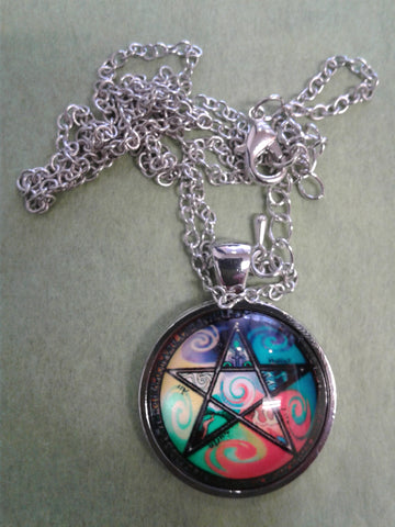 Glass Pentacle Necklace