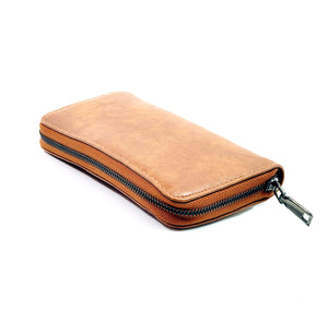 PU Leather  Purse  Zipped Wallet Card Phone Holder- Purse A0005 Brown
