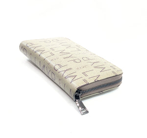 PU Leather Letter Print Purse  Zipped Wallet Card Phone Holder- Purse A0005 Khaki