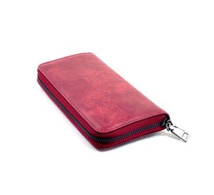 PU Leather Purse  Zipped Wallet Card Phone Holder- Purse A0005 Red