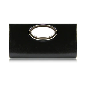 Ladies Multi-colour Diamante Clutch Bag Evening Bag - 096-901D Black