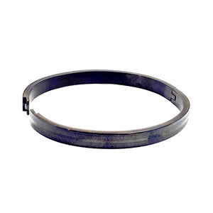 Brand New Stainless Steel Open Bangle -Bgl 121 Black