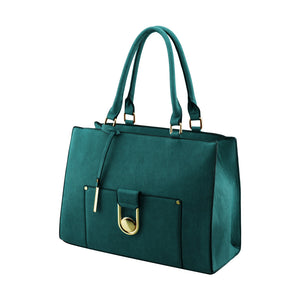 Stylish Woman Faux Leather 2-in-1 Handbag Shoulder Bag Crossbody Bag Purse Bag - 2772 Green