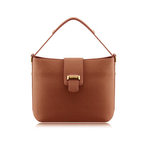 Ladies Fashionable Faux Leather Small Handbag Shoulder Bag Crossbody Bag - 902 Brown