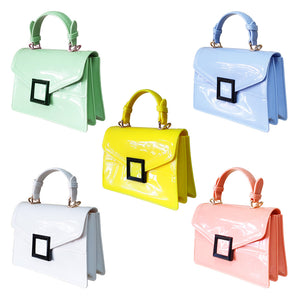 Stunning Ladies Small Fashion Silicone Rubber Jelly Bag - 9043 White