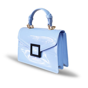 Stunning Ladies Small Fashion Silicone Rubber Jelly Bag - 9043 Blue