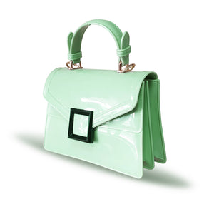 Stunning Ladies Small Fashion Silicone Rubber Jelly Bag - 9043 Green