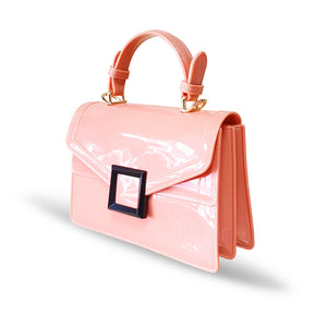 Stunning Ladies Small Fashion Silicone Rubber Jelly Bag - 9043 Pink