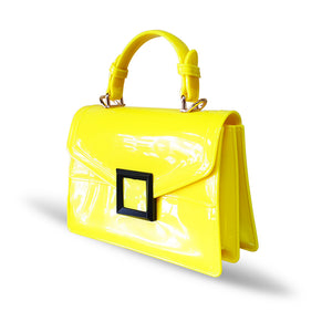 Stunning Ladies Small Fashion Silicone Rubber Jelly Bag - 9043 Yellow