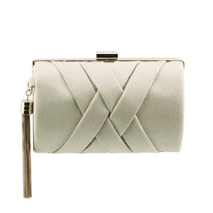 Stunning Ladies Fashionable Clutch bag - H10-3 Beige Apricot