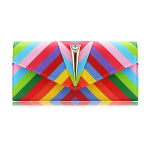 Stylish Multi-Colour Bag Clutch Bag Party Bag Evening Bag - SOU-W1 Red