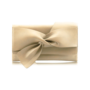 Stylish Soft Faux Leather Party Prom Clutch Evening Bag - Y90 Beige