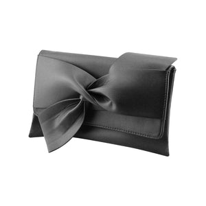 Stylish Soft Faux Leather Party Prom Clutch Evening Bag - Y90 Black