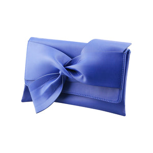 Stylish Soft Faux Leather Party Prom Clutch Evening Bag - Y90 R-Blue