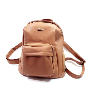 Unisex Backpack Travel Shoulder Bag Rucksack School Bag Brown