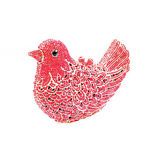 Unique Bird Shape Clutch Evening Party Grab Shoulder Handbag -Red