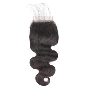 4 x 4  Body Wave Closure Hair - Length from 10'' to 20 ''