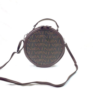 Letter Print Crossbody Shoulder Bag Grab Purse Vegan PU Leather Brand MoliMoi London Fashion Brown Bag Coffee F53