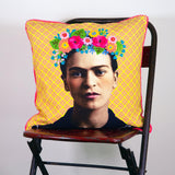 Frida Kahlo Pink / Yellow Cushion