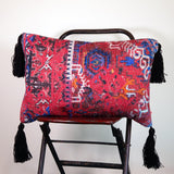 Jerome Chenille Cushion with Large Tassels