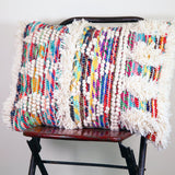 Multi Recycled Threads Large Cushion