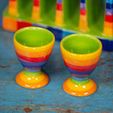 Striped Ceramic Egg cup
