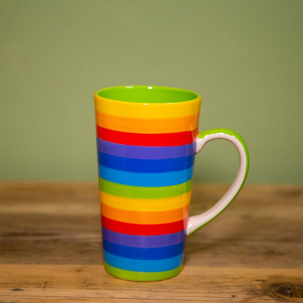 Handpainted Ceramic Tall Mug