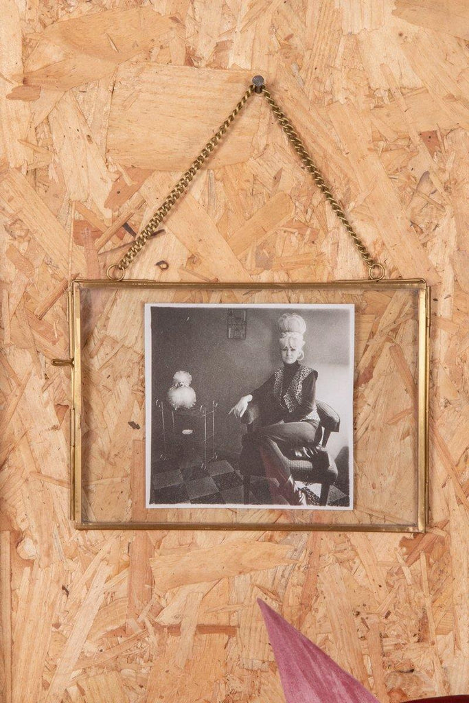 Brass photo frame with wire stand