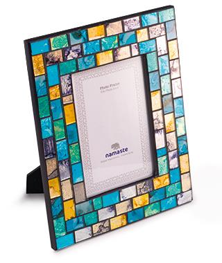 Turquoise and Gold Mosaic Photoframe