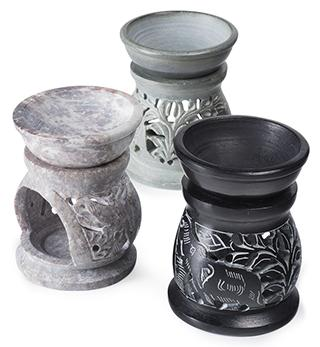 Soapstone Elephant Design Oil Burner