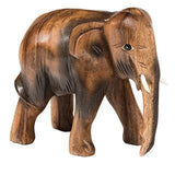 Handcarved Wooden Elephant Ornament