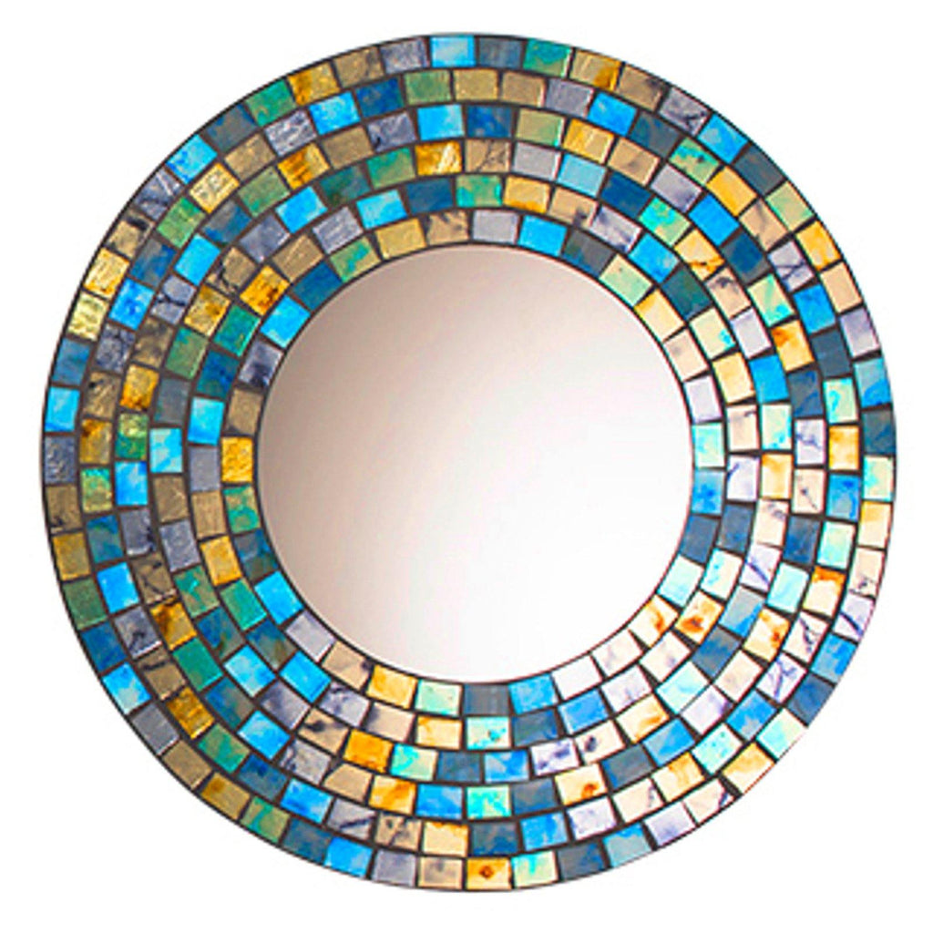 Turquoise & Gold Mosaic Mirror