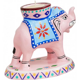 Elephant Hand Painted Tealight Holder
