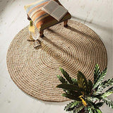 Round Jute & Cotton Braided Rugs