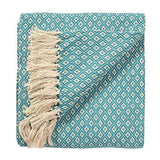 Diamond Pattern Hand Woven Throw