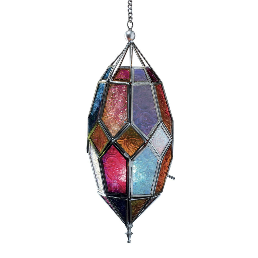 Multicolour Glass Hanging Lantern