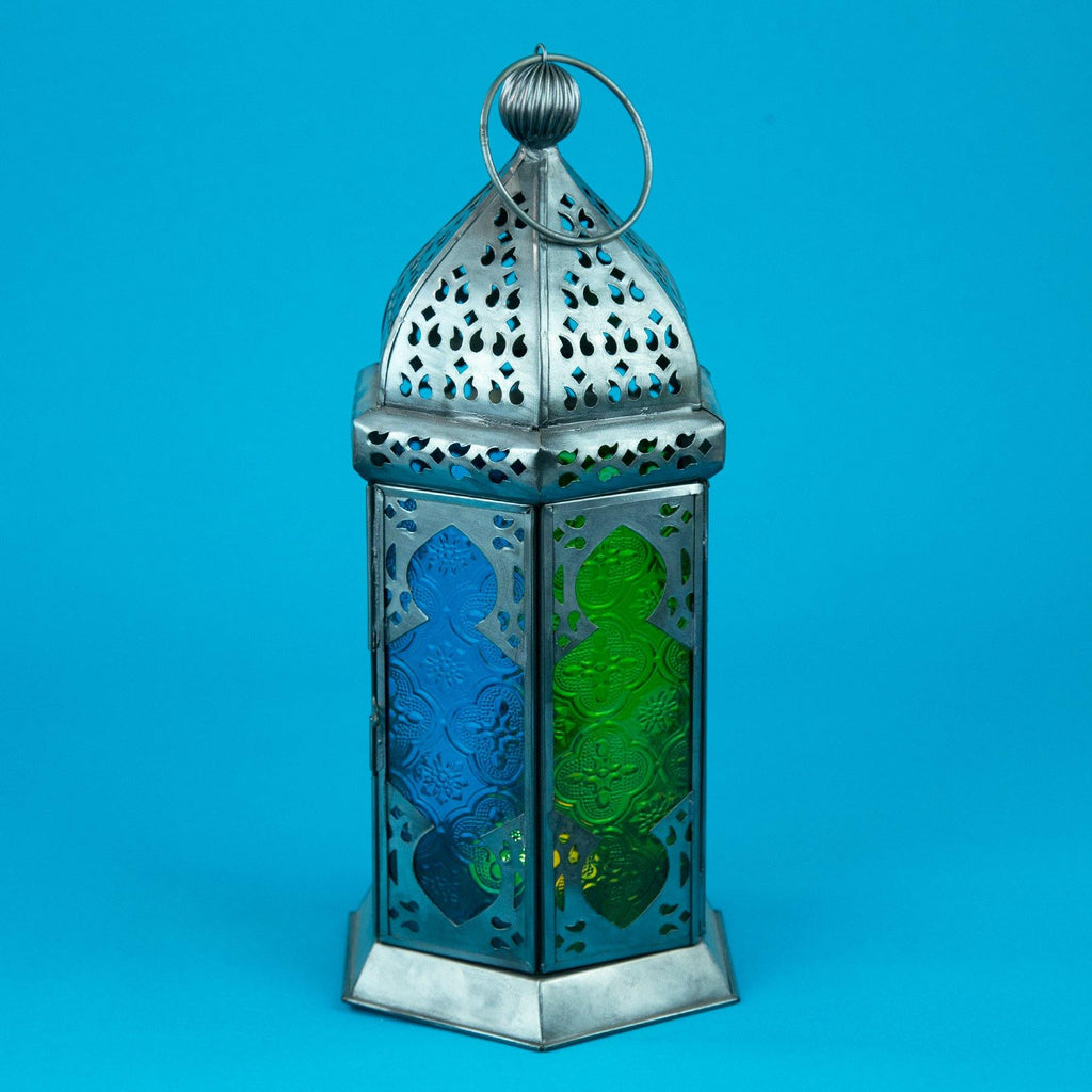Moroccan Style Glass Lamp Lantern with Closed Door