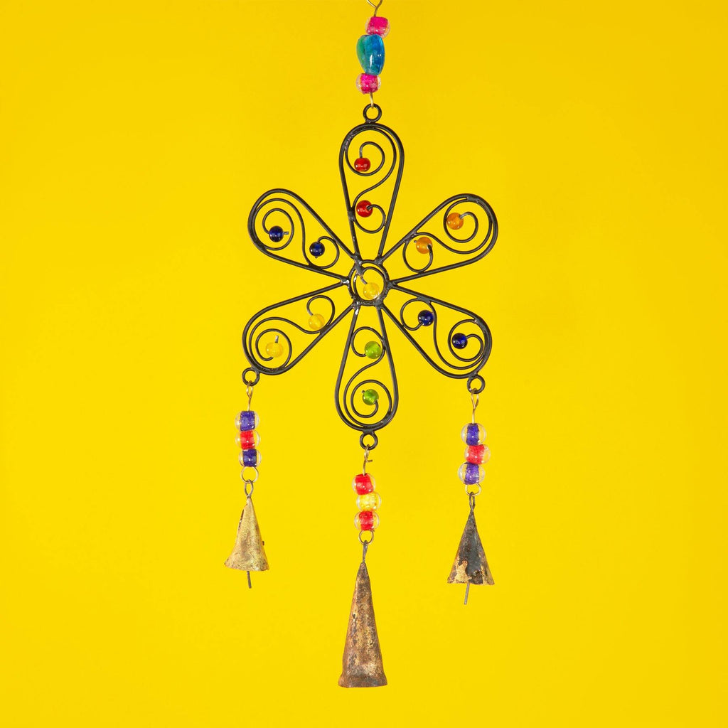 Flower Windchime with Mixed Beads