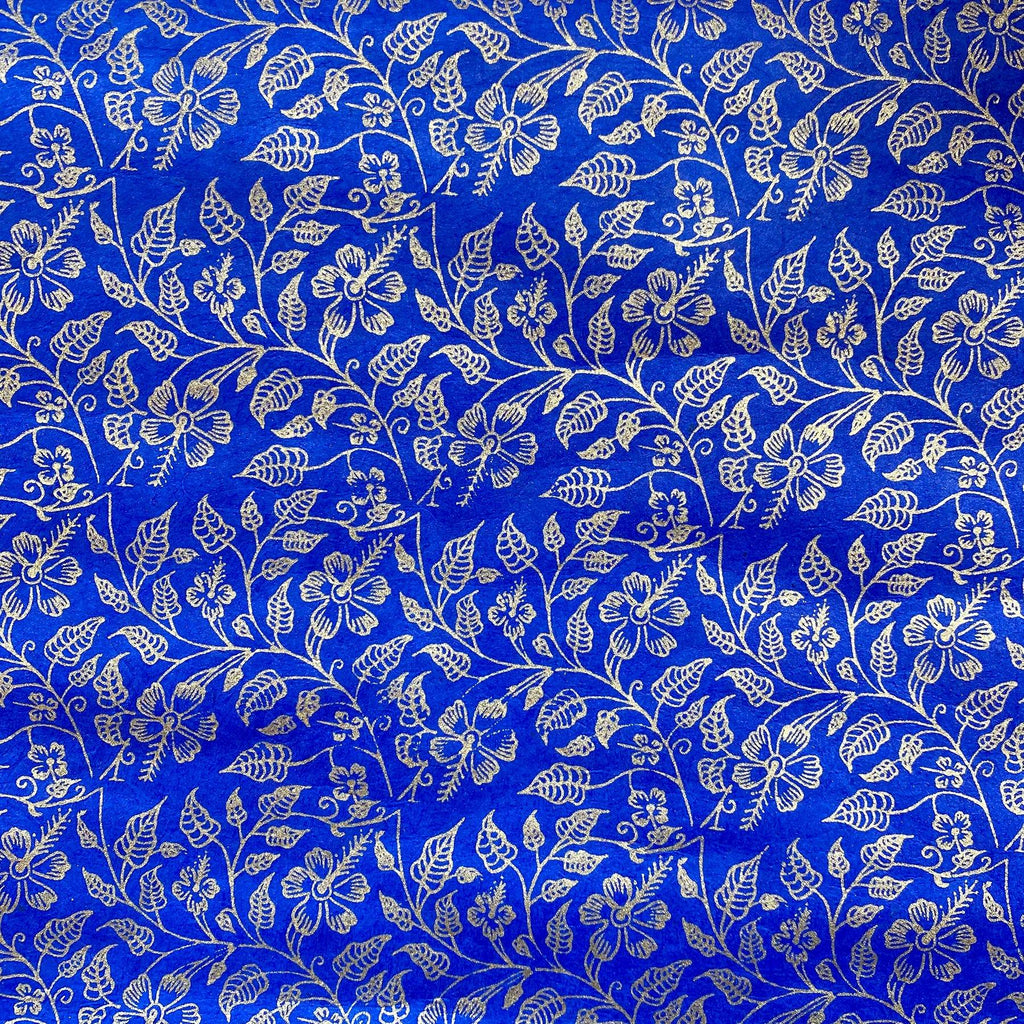 Handmade Wrapping Paper Royal Blue