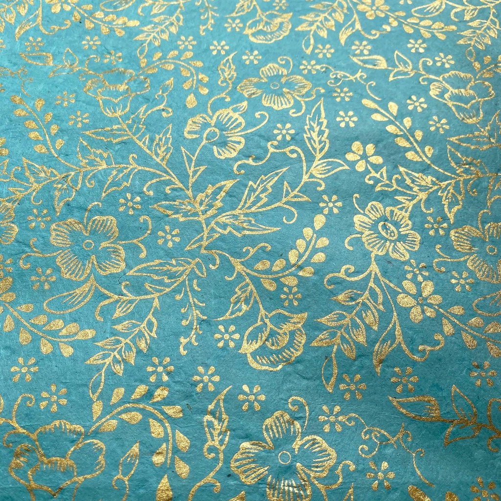 Handmade Wrapping Paper Blue