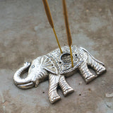Metal Elephant Shaped Incense Stick Holder