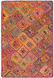 Diamond Weave Jute and Cotton Chindi Rug