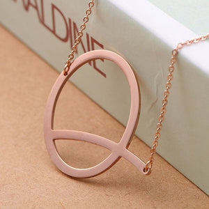 Stainless Steel Choker Necklaces Pendants 26 Letter alphabet 3 Color  Initial Necklace Women Girl Jewelry Collier SP 102