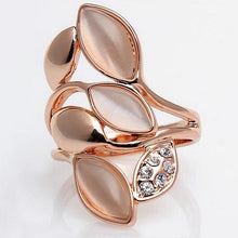 Rose Gold Color Ring Shining Opals For Women