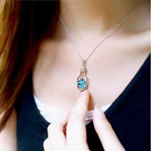 Crystal Heart Pendant Necklace For Women