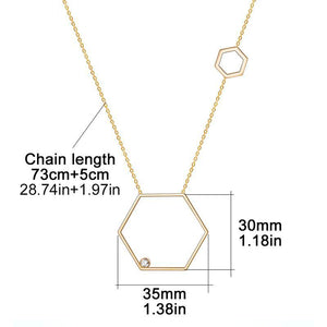 Long Necklace Women Stainless Steel Geometric - Steel Divines