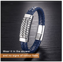 New Hot Genuine Leather Stainless Steel Bracelet - Steel Divines