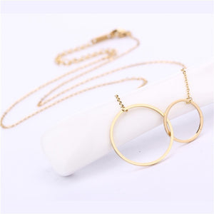 Stainless Steel Women Pendants Necklaces Gold Silver Rose Gold Simple Girls Females Fashion Jewelry Best Gifts - Steel Divines