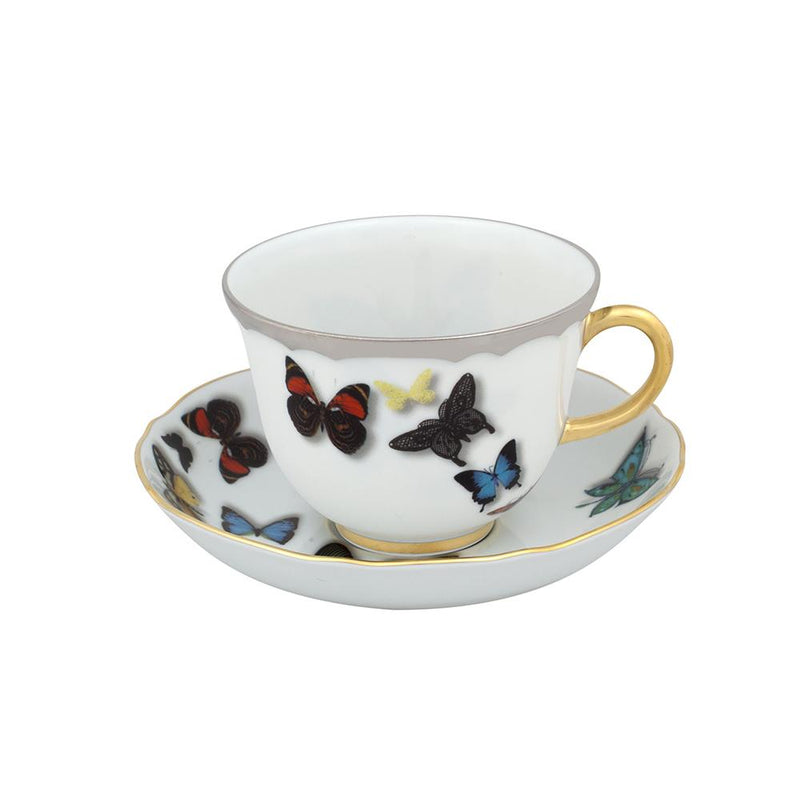Butterfly parade - tea cup and saucer